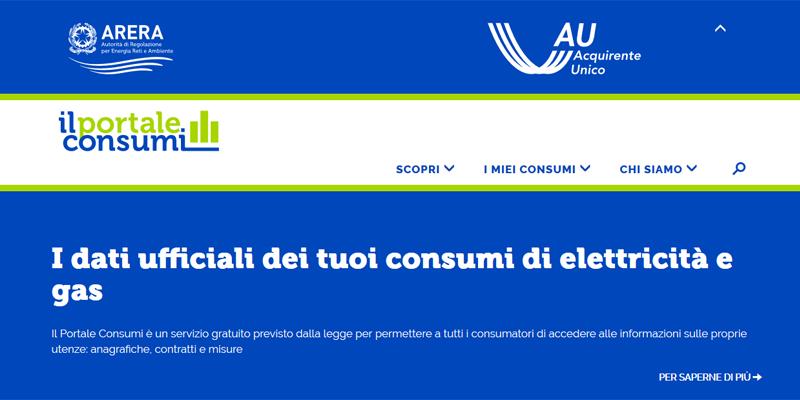 1 luglio, nasce il Portale Consumi luce e gas
