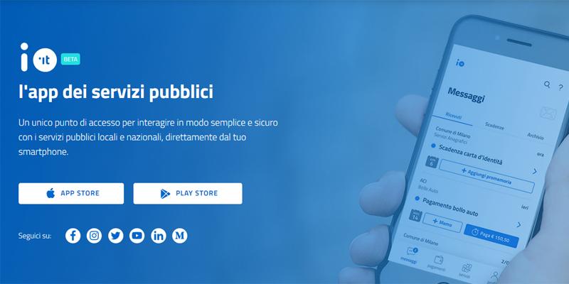 """""""IO"""" è la nuova applicazione per interagire con i servizi pubblici"""